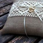 Linen Ring Bearer Pillow in..