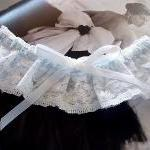 Bridal Garter in White Vint..